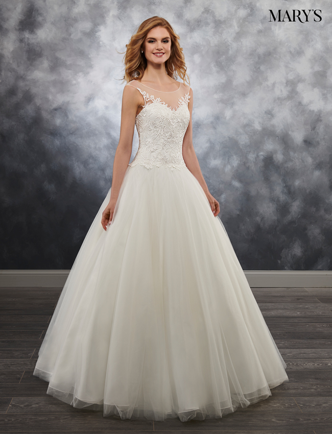 Ivory Color Bridal Ball Gowns - Style - MB6022