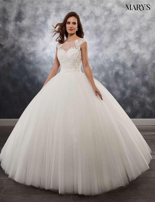Ivory Color Bridal Ball Gowns - Style - MB6025