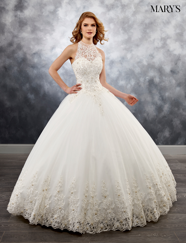 Ivory Color Bridal Ball Gowns - Style - MB6026