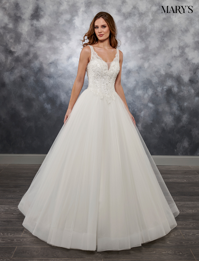 Ivory Color Bridal Ball Gowns - Style - MB6027