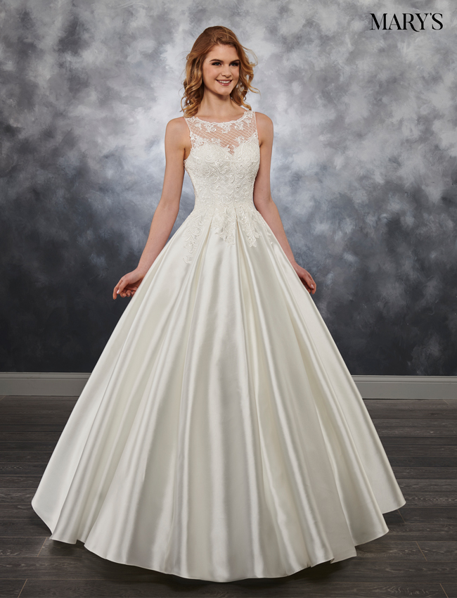 Ivory Color Bridal Ball Gowns - Style - MB6028