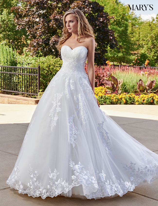 Ivory Color Bridal Ball Gowns - Style - MB6032