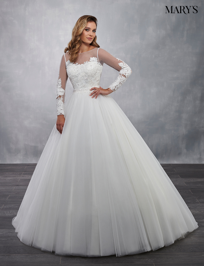 Ivory Color Bridal Ball Gowns - Style - MB6033
