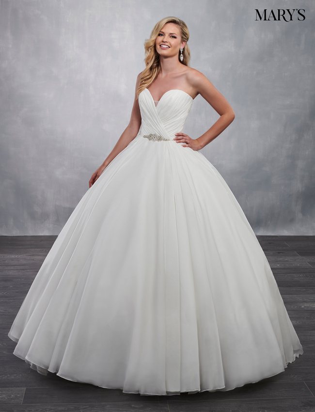 Ivory Color Bridal Ball Gowns - Style - MB6034