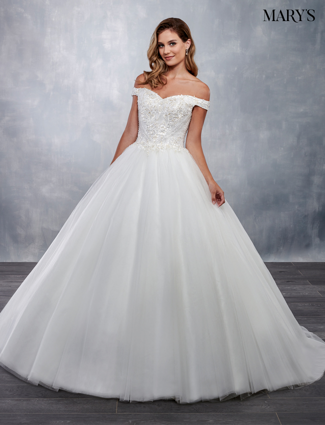 Ivory Color Bridal Ball Gowns - Style - MB6035