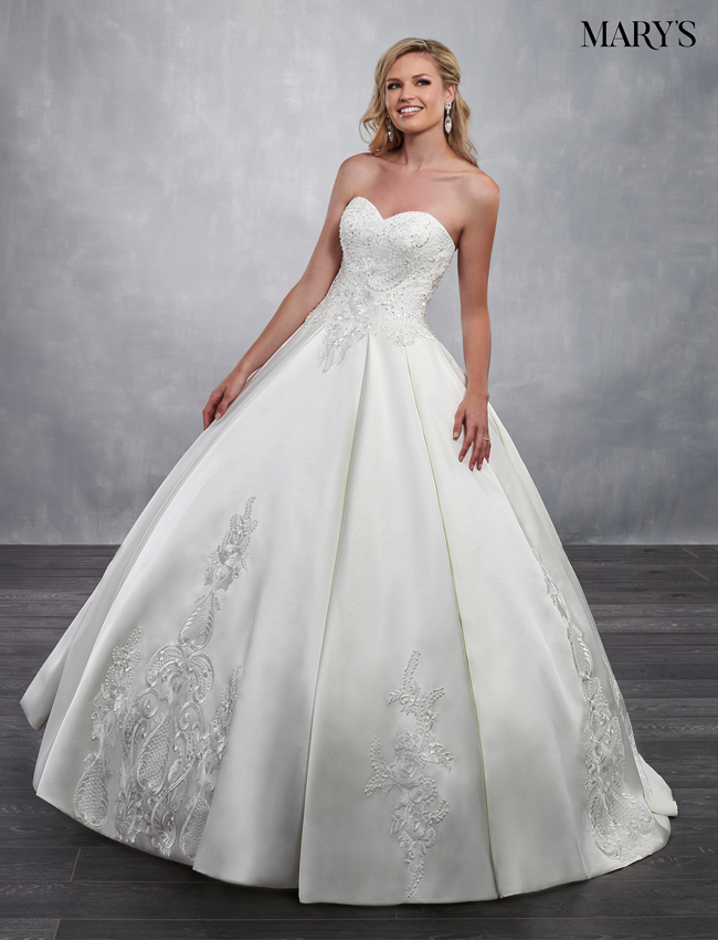 Ivory Color Bridal Ball Gowns - Style - MB6036