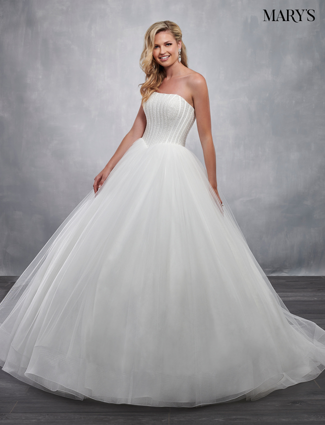 Ivory Color Bridal Ball Gowns - Style - MB6038