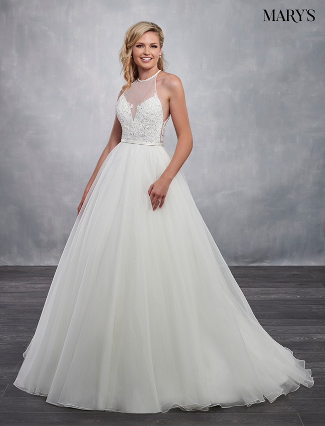 Ivory Color Bridal Ball Gowns - Style - MB6040