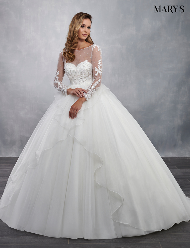 Ivory Color Bridal Ball Gowns - Style - MB6041