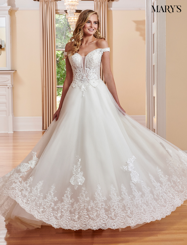 Ivory Color Bridal Ball Gowns - Style - MB6042