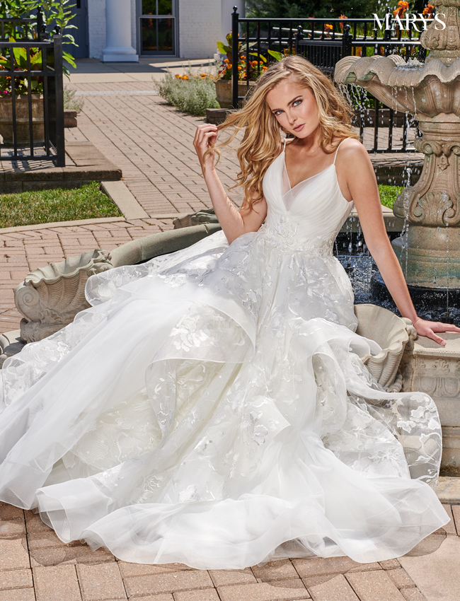 Ivory Color Bridal Ball Gowns - Style - MB6044