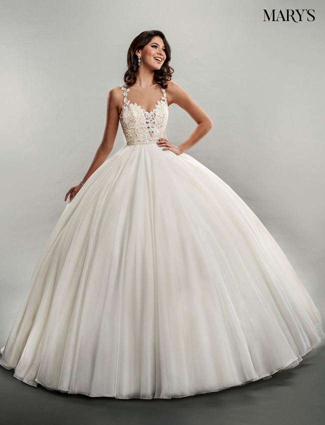 Nude Color Bridal Ball Gowns - Style - MB6046