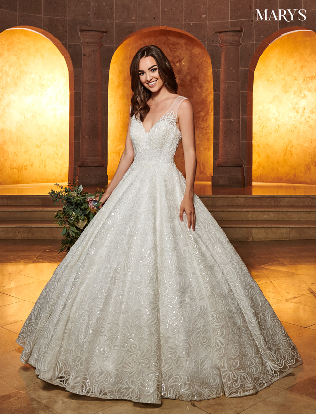 Ivory Color Bridal Ball Gowns - Style - MB6049