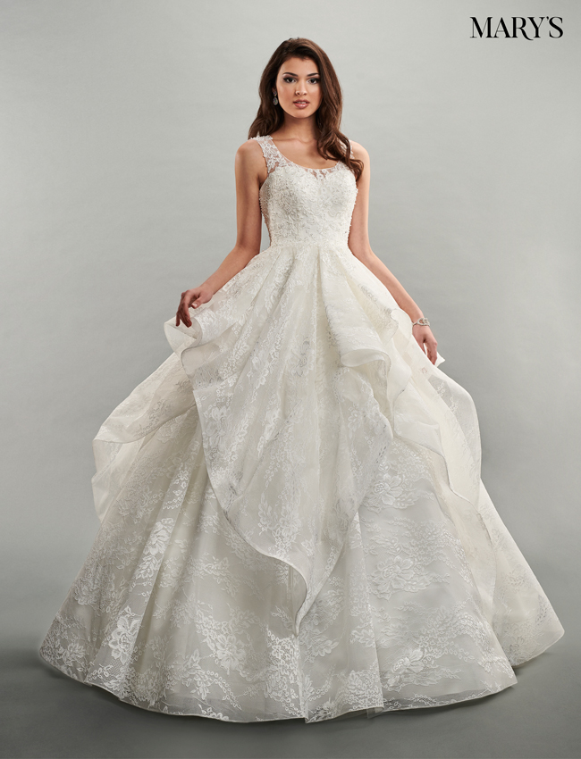 Ivory Color Bridal Ball Gowns - Style - MB6050