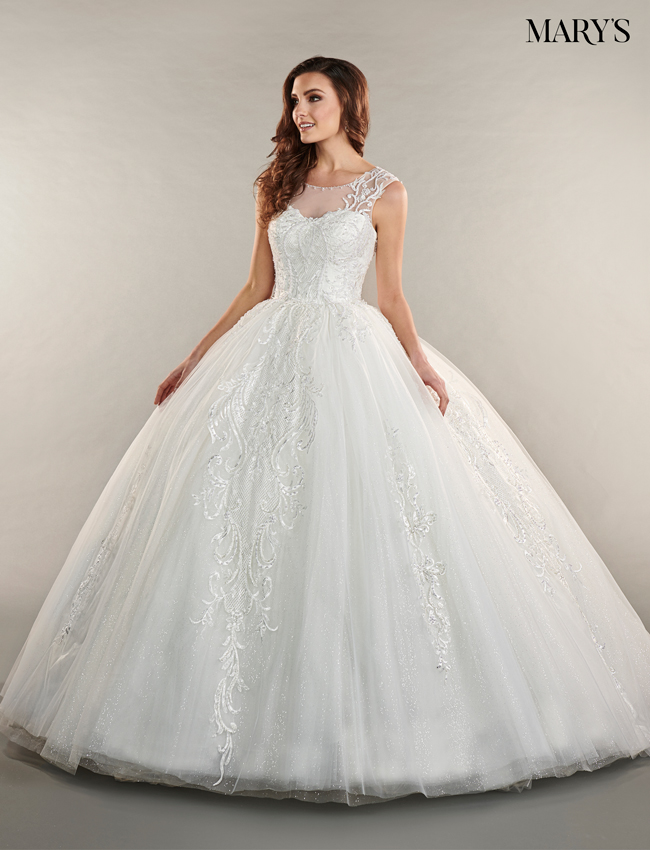 Ivory Color Bridal Ball Gowns - Style - MB6054