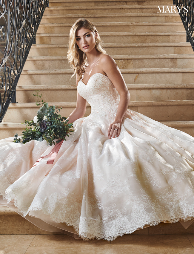 Blush Color Bridal Ball Gowns - Style - MB6055