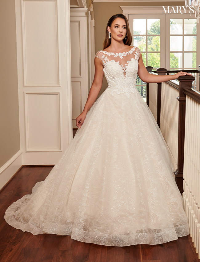 Champagne Color Bridal Ball Gowns - Style - MB6058