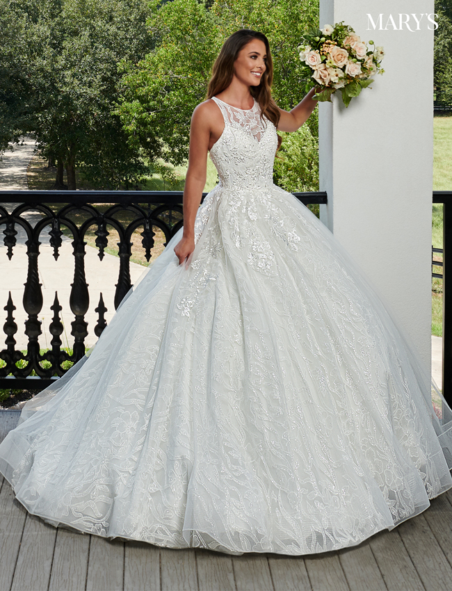 Ivory Color Bridal Ball Gowns - Style - MB6059