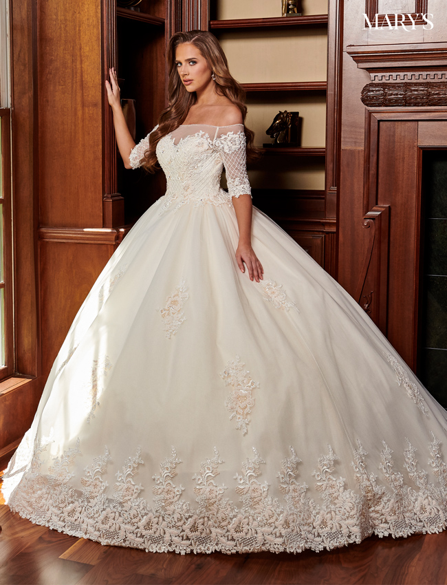Champagne Color Bridal Ball Gowns - Style - MB6060
