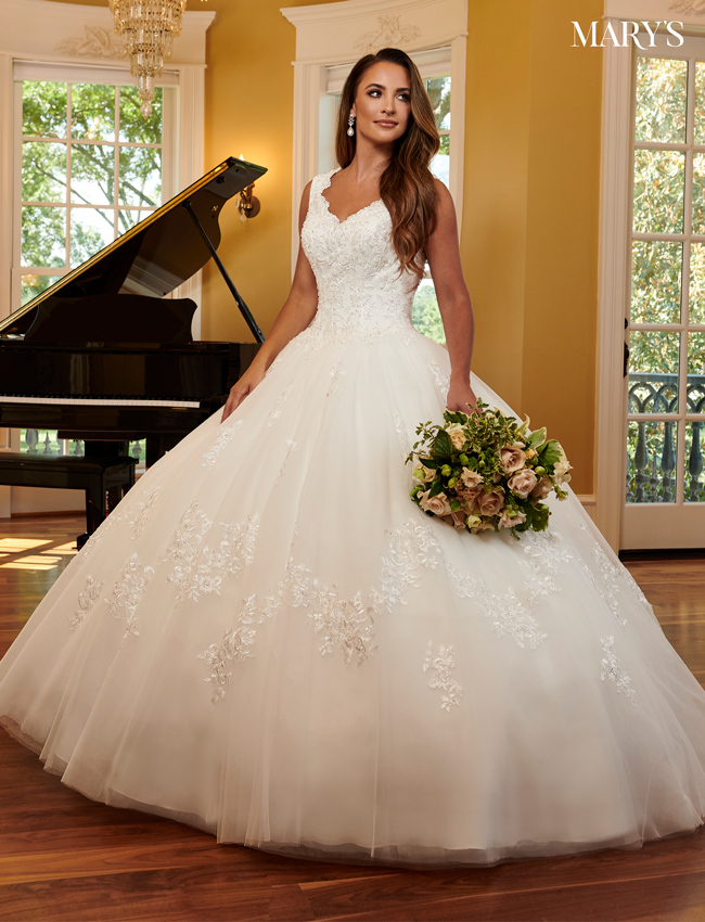 Ivory Color Bridal Ball Gowns - Style - MB6061