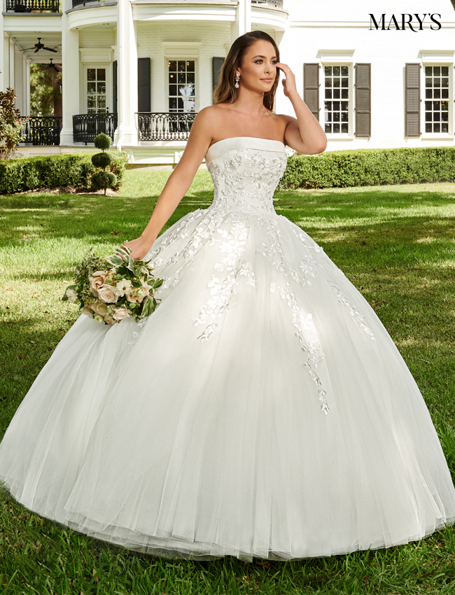 Ivory Color Bridal Ball Gowns - Style - MB6062