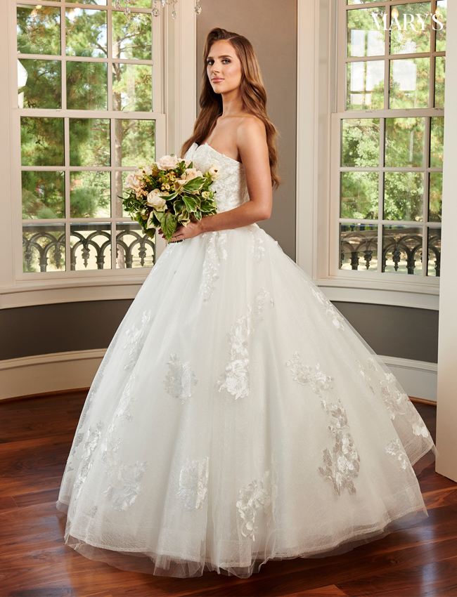 Ivory Color Bridal Ball Gowns - Style - MB6063