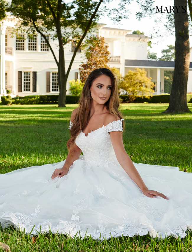 Ivory Color Bridal Ball Gowns - Style - MB6064