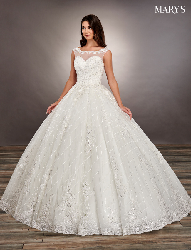 Ivory Color Bridal Ball Gowns - Style - MB6065