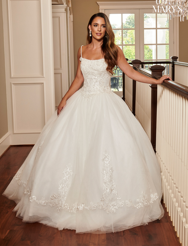 Ivory Color Bridal Ball Gowns - Style - MB6068