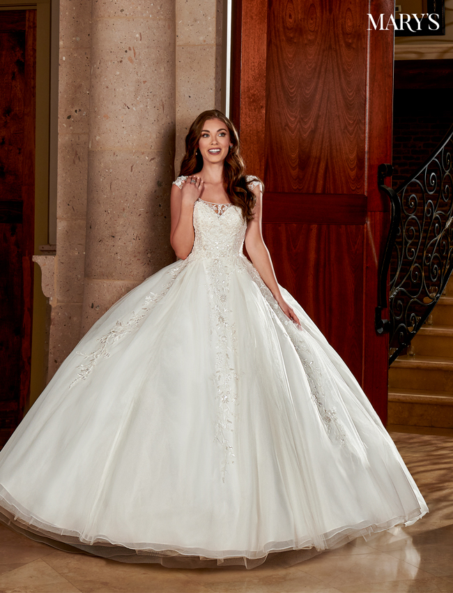 Ivory Color Bridal Ball Gowns - Style - MB6070