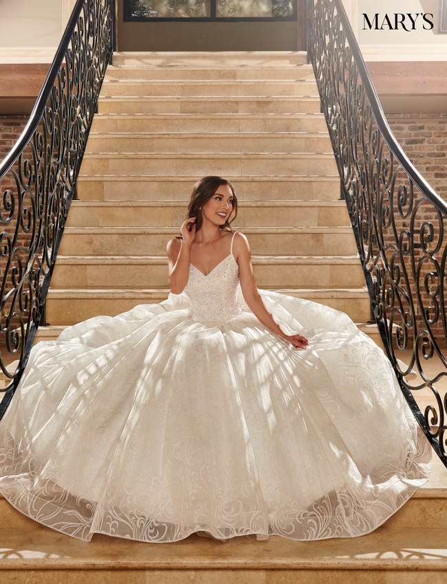 Ivory Color Bridal Ball Gowns - Style - MB6071