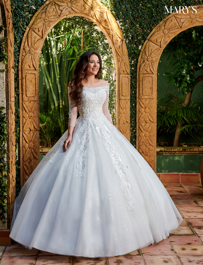 Ivory Color Bridal Ball Gowns - Style - MB6072