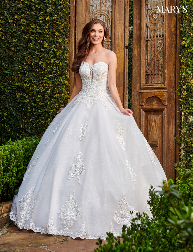 Ivory Color Bridal Ball Gowns - Style - MB6073