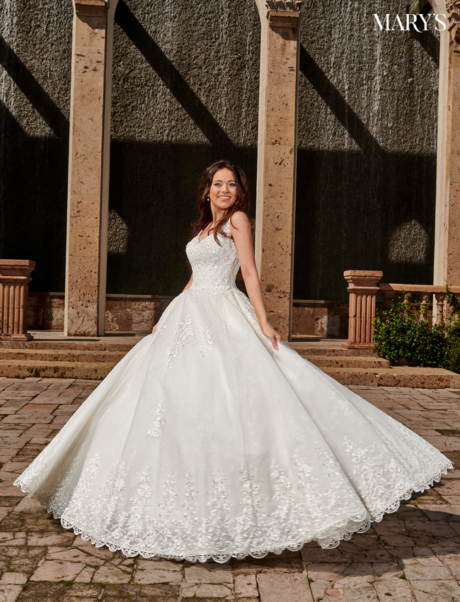 Ivory Color Bridal Ball Gowns - Style - MB6074