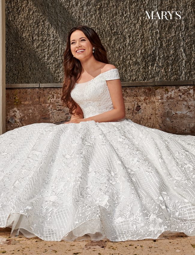 Ivory Color Bridal Ball Gowns - Style - MB6075