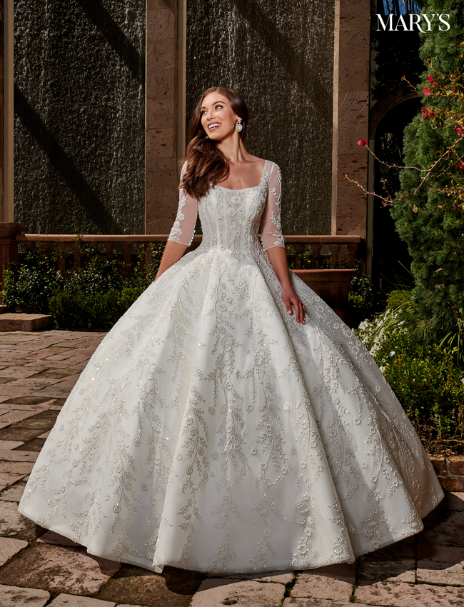 Ivory Color Bridal Ball Gowns - Style - MB6076