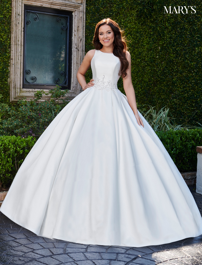 Ivory Color Bridal Ball Gowns - Style - MB6077