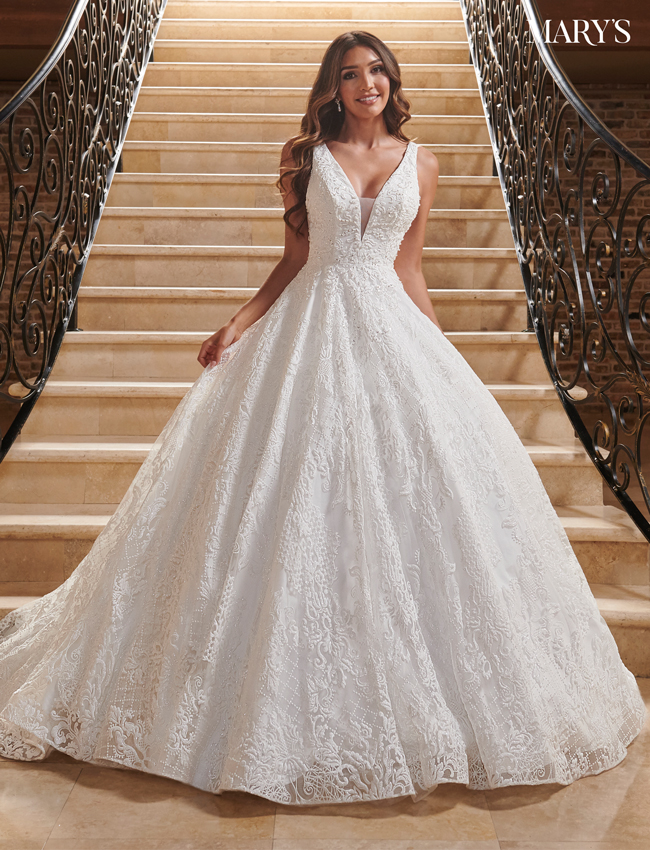 Ivory Color Bridal Ball Gowns - Style - MB6079