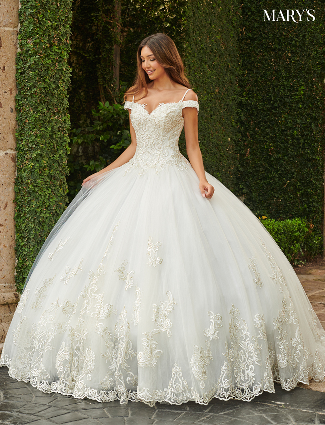 Ivory Color Bridal Ball Gowns - Style - MB6080