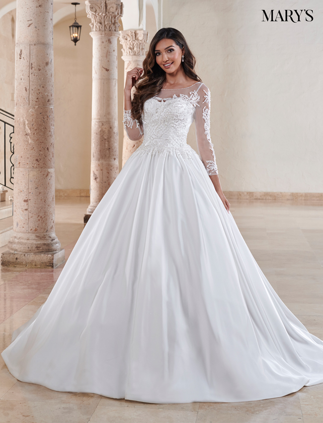 Ivory Color Bridal Ball Gowns - Style - MB6081