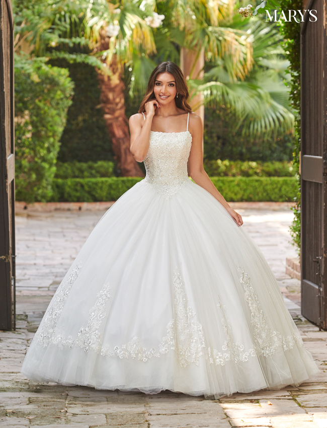 Ivory Color Bridal Ball Gowns - Style - MB6082