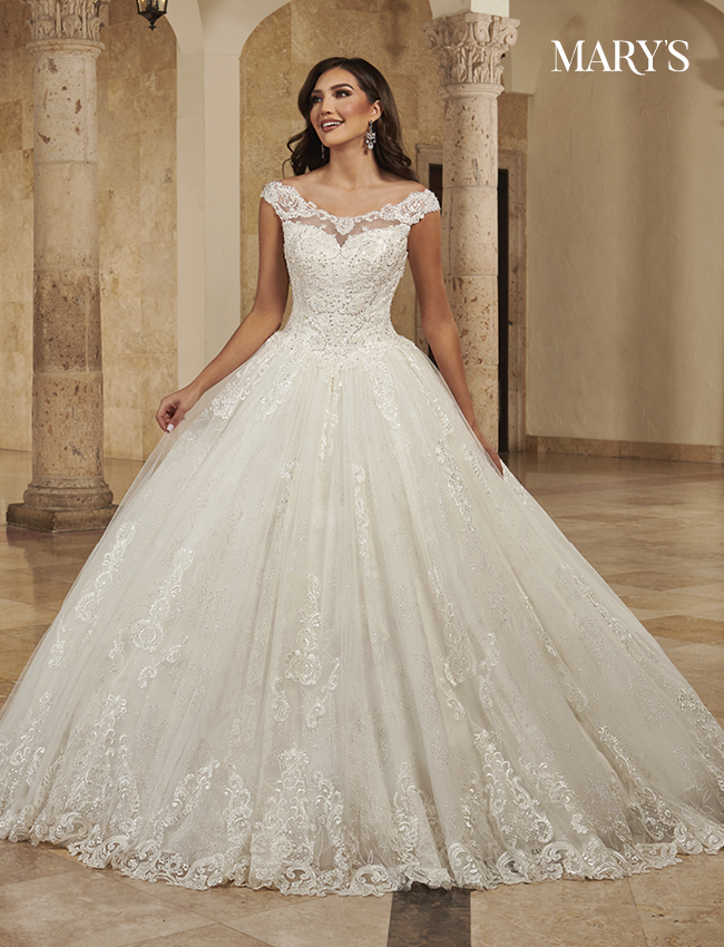Ivory Color Bridal Ball Gowns - Style - MB6083