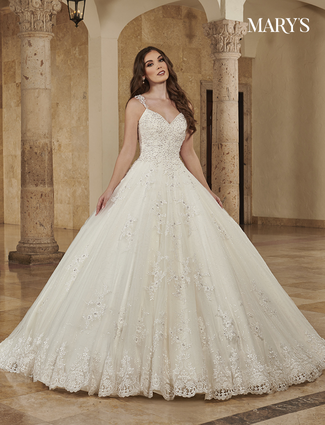 Ivory Color Bridal Ball Gowns - Style - MB6084
