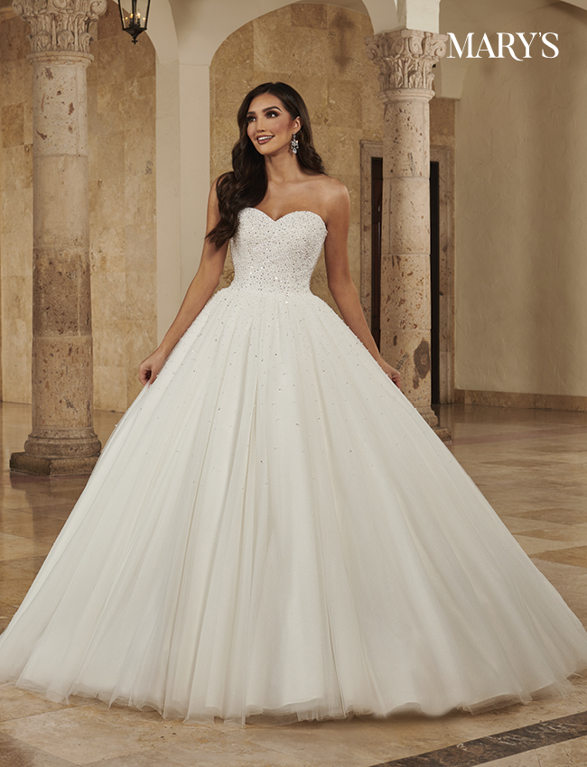 Ivory Color Bridal Ball Gowns - Style - MB6085