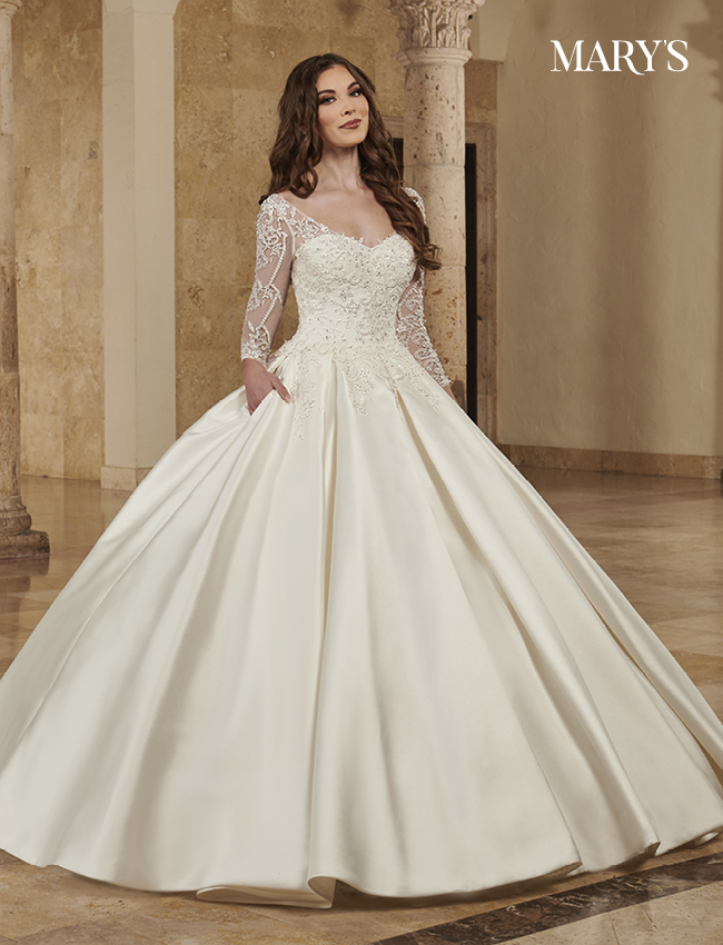 Ivory Color Bridal Ball Gowns - Style - MB6086