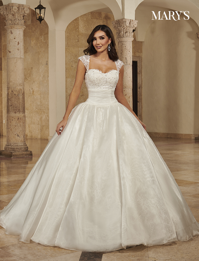 Ivory Color Bridal Ball Gowns - Style - MB6087