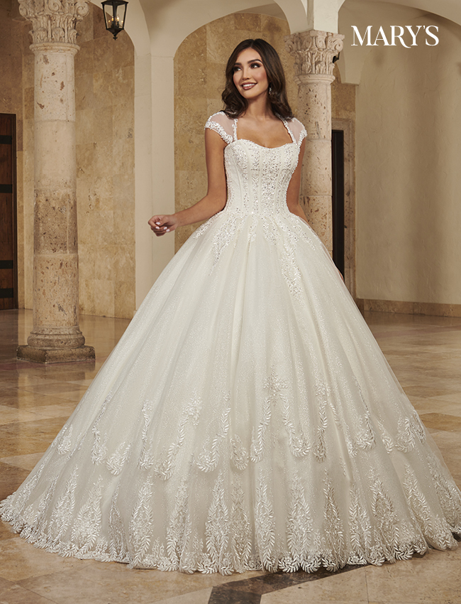 Ivory Color Bridal Ball Gowns - Style - MB6088