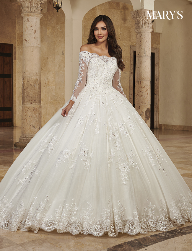 Ivory Color Bridal Ball Gowns - Style - MB6089