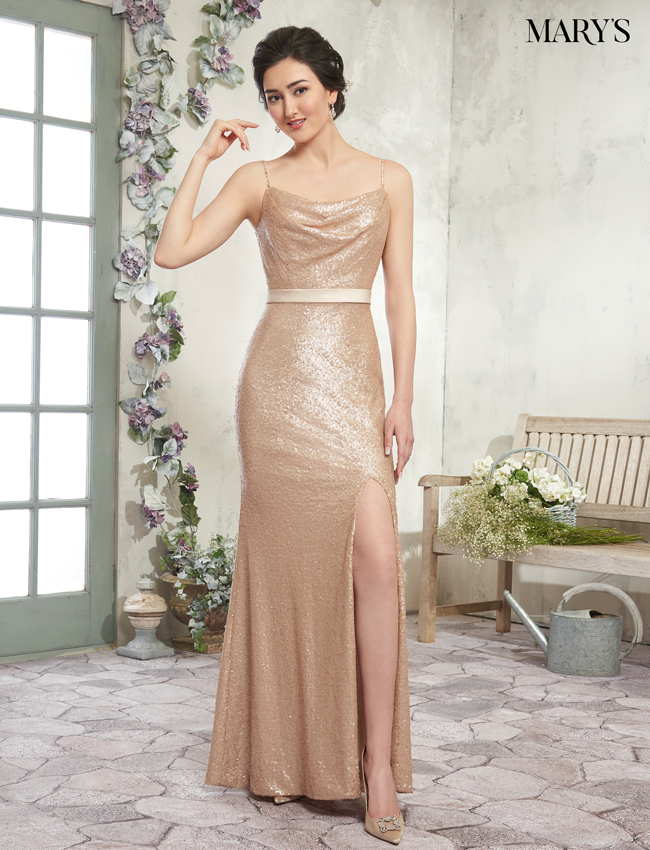 Rose Gold Color Amalia Bridesmaid Dresses - Style - MB7013
