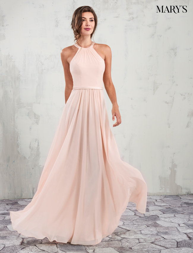 Blush Color Amalia Bridesmaid Dresses - Style - MB7014